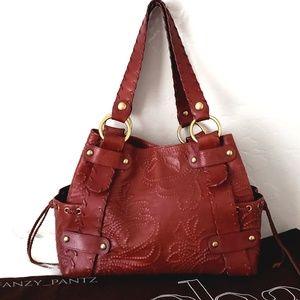 Kooba Sienna Handbag tooled embossed leather purse